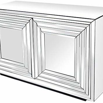 Crestview Collection Millenium Mirrored 2 Door Cabinet