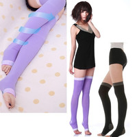 Beauty Leg Shaper Compression Burn Fat Thin Socks Women's Japan Slim Sleeping D_L = 1713190532