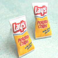 lay's potato chips earrings