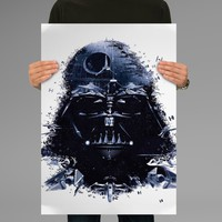 Poster Print Darth Vader Star Wars Helm Wall Decor Canvas Print - halawatani.com