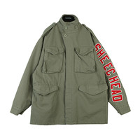 Embroidery Patched Vintage Military Jacket by Stylenanda