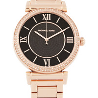 Michael Kors - Caitlin crystal-embellished rose gold-tone watch