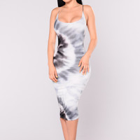 Born To Love Dress - Grey