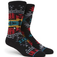 Stance Reservation Crew Socks - Mens Socks - Black - One