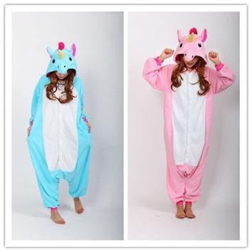 New Halloween Party Costume Unicorn My Little Pony Onesuit Pajamas Costume Unisex Adult One-piece Sleepwear Tops Party Cosplay