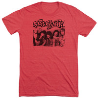 AEROSMITH/OLD PHOTO-S/S ADULT TRI-BLEND-RED-XL