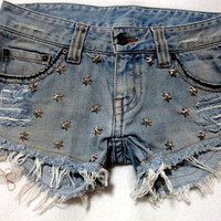 Free Worldwide Shipping Upcycled Hipster Faded Blue by MindJeans