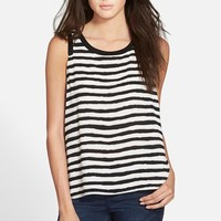 Junior Women's Soprano Stripe Envelope Back Tank,