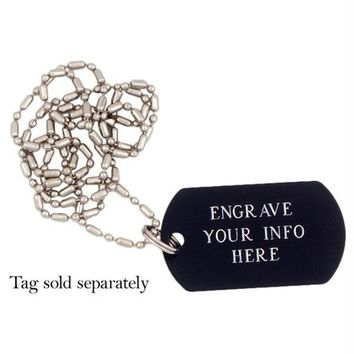 Military ID Tag Chain Necklace
