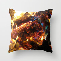 Colorful Fire Throw Pillow by 2sweet4words Designs | Society6