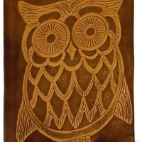 "BARNES & NOBLE | Owl Embossed Tan Italian Leather Journal (6"" x 8"") by Barnes & Noble, Nouvel Art"