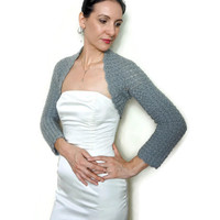 WEDDING SHRUG BRIDAL Bolero Jacket / Bridesmaid Crochet Shrug Bolero / Wedding Boleros and Shrugs / Bridal Cover Up