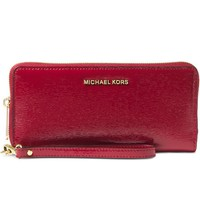 Michael Kors Boxed Jet Set Travel Continental Wallet in Bark Patent Leather