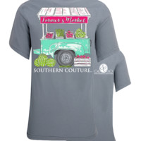 Southern Couture Farmer's Market Watermelon Comfort Colors T-Shirt