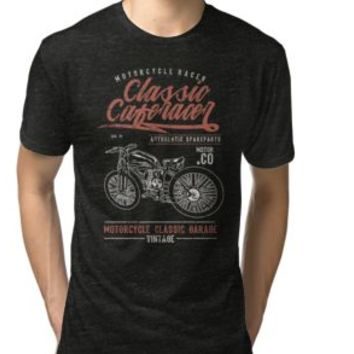 'CLASSIC CAFERACER MOTORCYCLE' T-Shirt by Super3