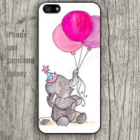 Elephant pink balloon iphone 6 case 6 plus iPhone 5 5S 5C case Samsung S3, S4,S5 case, Ipod touch Silicone Rubber Case, Phone cover