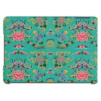 Vintage Floral on Bold Teal iPad Air Cover