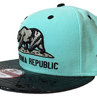 New Era Men's California Republic Snapback Cap Medium Large Blue Croc