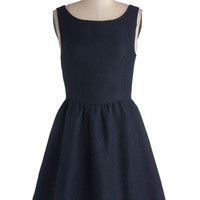 ModCloth Short Sleeveless Fit & Flare Set the Standard Dress
