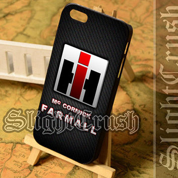 IH Tracktor Farmall - iPhone 4/4s/5/5s/5c Case - Samsung Galaxy S3/S4/S3-mini Case - Black or White