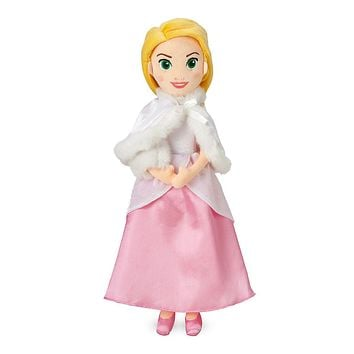 Disney Rapunzel Plush Doll in Winter Cape Medium New with Tags