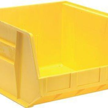 Quantum Storage Systems Stack And Hang Bin, 18 X 16-1-2 In. X 11 In., Yellow