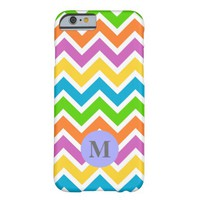 Monogram Retro Chevron ZigZag Stripe Pattern Barely There iPhone 6 Case