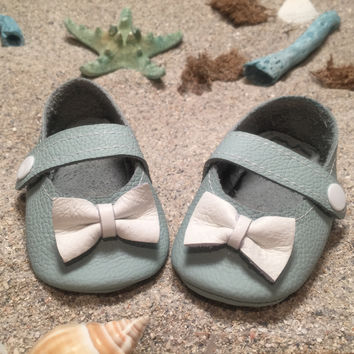 Blue Cotton Candy Mary Janes with rubber sole