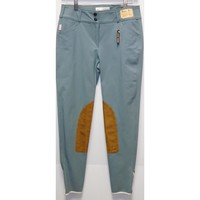 TS 1967 Airforce Blue w/Tan Knee Patch Low Rise Front Zip Breech