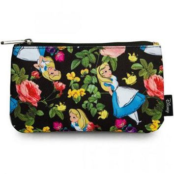 Alice in Wonderland Floral Pencil Case by Loungefly - PRE-ORDER, SHIPS in JULY