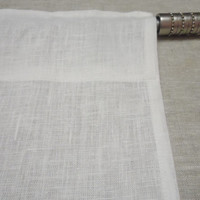 Natural Linen Curtain Valance Kitchen cafe curtains. White linen curtain / fiber flax. Window valance
