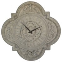 Quadrofoil Clock an Ancient Greek and Rome Old-fashioned style Clock