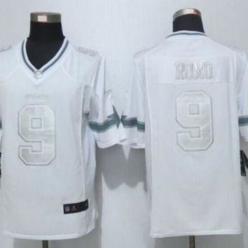 DCCK8X2 Nike Cowboys #9 Tony Romo White Men's Stitched NFL Limited Platinum Jersey
