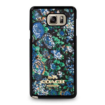 COACH NEW YORK MEADOW Samsung Galaxy Note 5 Case Cover