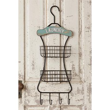 Laundry Room Wall Hanging Organizer Rustic Farmhouse