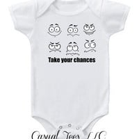 Take Your Chances Funny Baby Bodysuit  for the Baby