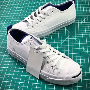 Converse Jack Purcell Signature White Blue Shoes - Best Online Sale