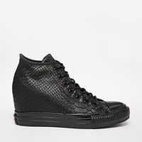 Converse All Star Black Reptile Embossed High Top Trainers