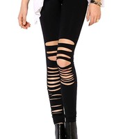 Irregular Cutout Leggings