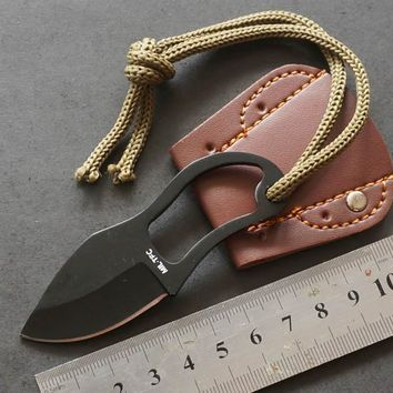 EDC gear Mini portable Pocket Karambit cutter claw knife hike tool Outdoor camp gadget Survival Self Defense Facas
