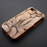 Buy 1 Get 1 Free - Swirled Wood iPhone Case for iPhone 5C , 5 , 4 - Mahogany iPhone 5s Case - Personalized iPhone 5 Case Wood - Gift