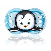 RaZbaby Keep-It-Kleen Pacifier, Ethan Penguin, 0-36 Months