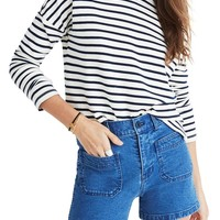 Madewell Patch Pocket High Waist Denim Shorts | Nordstrom