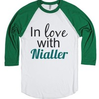 Nialler-Unisex White/Evergreen T-Shirt