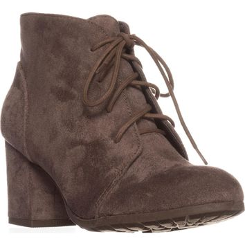 madden girl Torch Lace-Up Ankle Boots, Dark Taupe, 8.5 US
