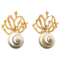 YSL shell earrings - Google Search