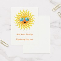 Summer Sun Cartoon with Sunglasses Chubby 100 pack Business Cards