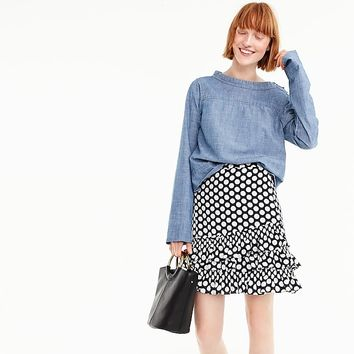 Women's Ruffle Skirt In Dot - Women's Skirts | J.Crew