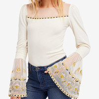Free People Cotton High Tides Bell-Sleeve Illusion Top | macys.com