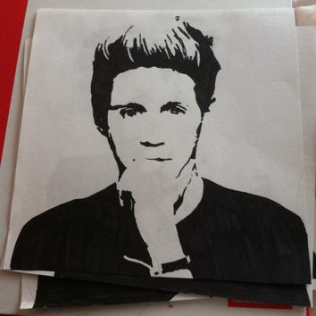 One Direction Drawing: Niall Horan Pop Art